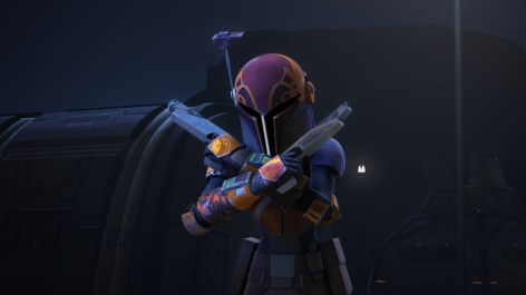 "STAR WARS REBELS - ""The Protector of Concord Dawn"" - The rebels are in need of new hyperspace routes as the Empire closes in. The rebel crew finds a new shortcut, but they must gain permission from the leader of Concord Dawn to use it. This episode of ""Star Wars Rebels"" airs Wednesday, January 27 (9:00 PM - 9:30 PM ET/PT) on Disney XD. (Lucasfilm) SABINE"