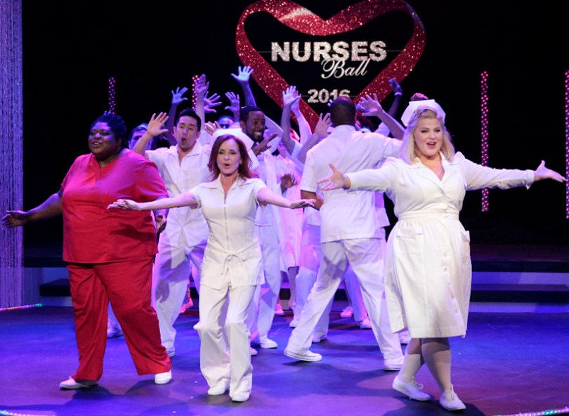 """GENERAL HOSPITAL - The Nurses' Ball airs throughout the week of May 23, 2016 on ABC's """"General Hospital."""" The Emmy-winning daytime drama """"General Hospital"""" airs Monday-Friday (3:00 p.m. - 4:00 p.m., ET) on the ABC Television Network. GH16 (ABC/Rick Rowell) SONYA EDDY, PARRY SHEN, JACKLYN ZEMAN, ANTHONY MONTGOMERY, RISA DORKEN"""
