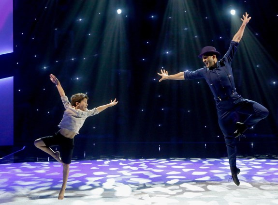 """SO YOU THINK YOU CAN DANCE: L-R: Top 6 contestant J.T. Church and all-star Robert Roldan perform a Broadway routine to """"Mr. Bojangles"""" choreographed by Al Blackstone on SO YOU THINK YOU CAN DANCE airing Monday, August 22 (8:00-10:00 PM ET live/PT tape-delayed) on FOX. ©2016 FOX Broadcasting Co. Cr: Adam Rose"""