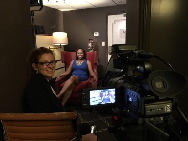 Cady with documentarian Deborah Riley Draper, Olympic Pride, American Prejudice