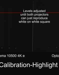Optoma uhd vs epson pro cinema ls basic caligration highlight pluge clipping also home theater projector comparison rh tvspecialists