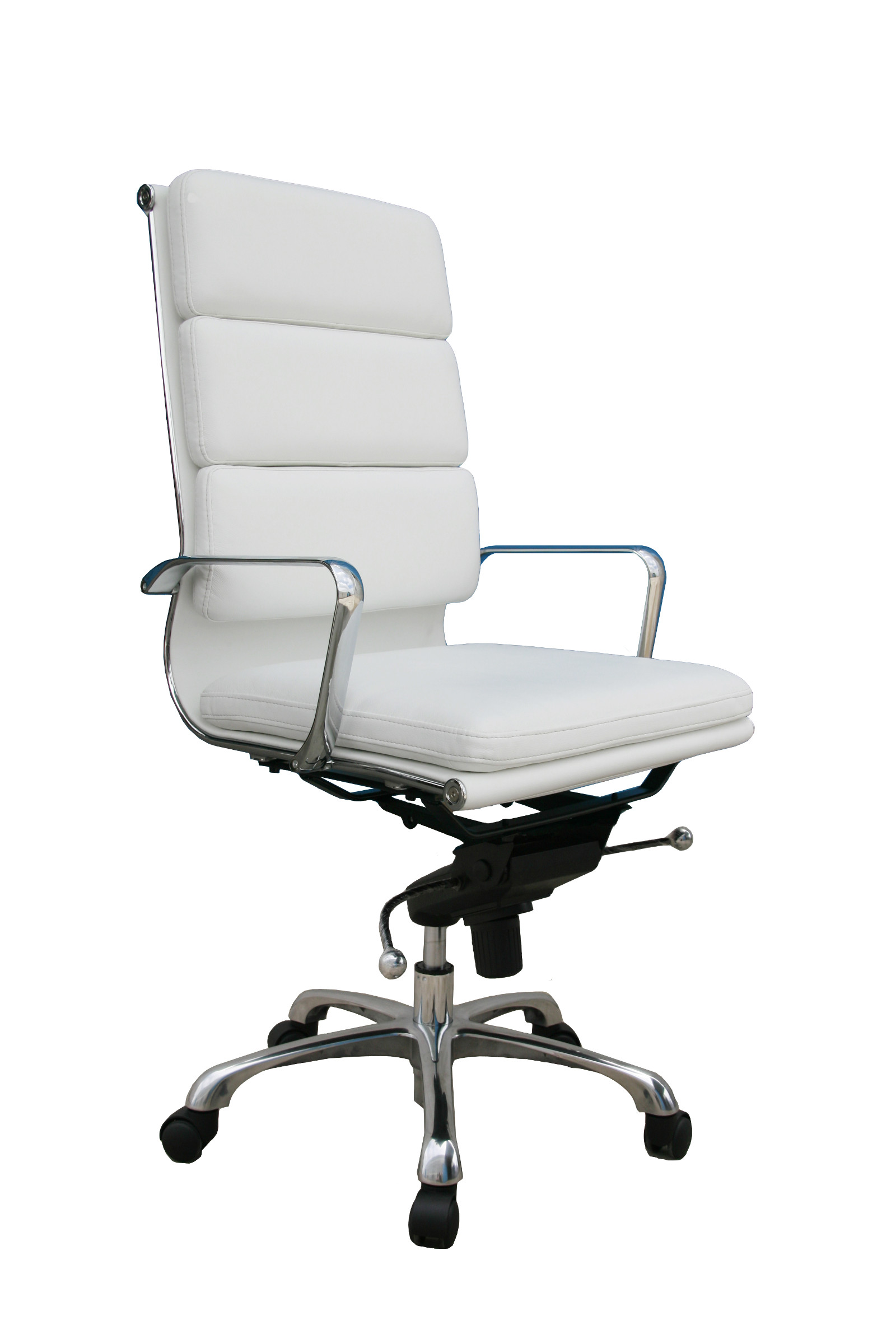 Plush Office Chair J Andm Plush White High Back Office Chair 176472