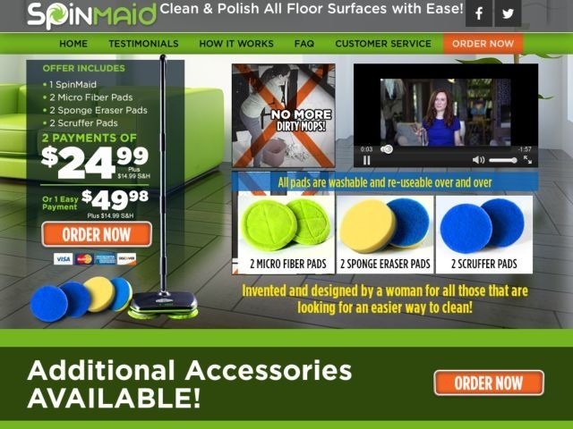 commercial kitchen floor cleaning cabinet racks spin maid reviews - too good to be true?