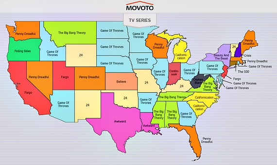 US Torrents Map Ohio Loves Game Of Thrones Utah Loves Fargo - Map usa utah