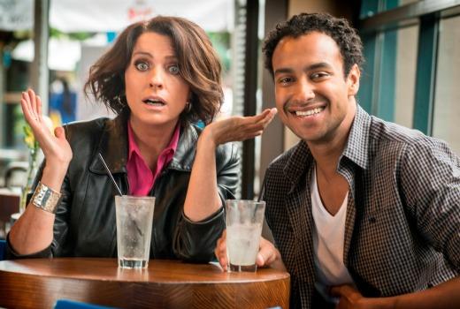 Gretel Killeen & Matt Okine. HNTB for ABC TV.Photo by Simon Cardwell