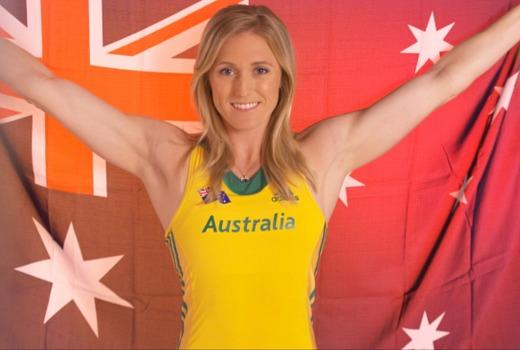Sally Pearson Australian Flag