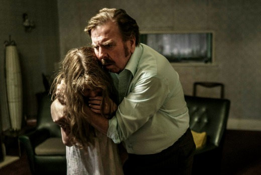 Eleanor Worthington-Cox as Janet Hodgson and Timothy Spall as Maurice Grosse