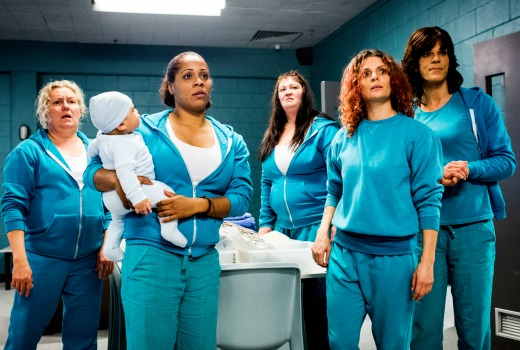 WW$4 Ep 1 the inmates return to Wentworth - Liz, Doreen, Boomer, Bea, Maxine Foxtel SoHo 6