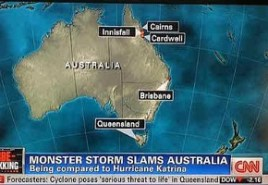 Australia Map Upside.Cnn S Upside Down Map Of Australia Tv Tonight