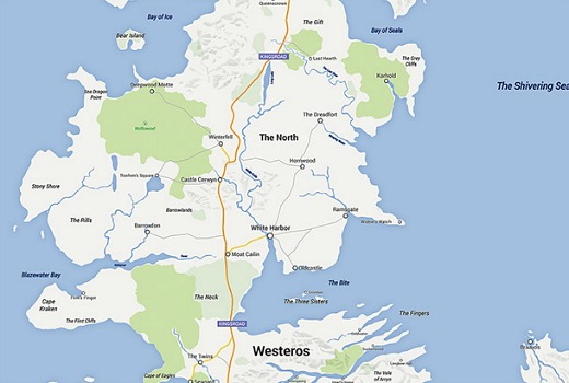 The Game Of Thrones Google Map Tv Tonight