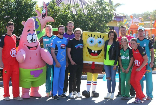 during the Cricket Australia BBL & Nickelodeon media opportunity at Sea World on October 6, 2016 in Gold Coast, Australia.