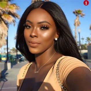 Full lace wigs yaki straight peruvian virgin human hair natural color glueless lace wig with baby hair pre plucked natural hair line