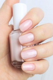 Smooth streak free nails with essie ballet slippers and mademoiselle