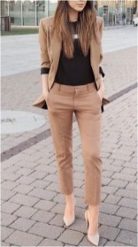 1 waist length blazer with trouser pants dan heels casual office outfit source fashionactivation.com
