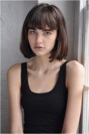 2 bob short hairstyle with bangs