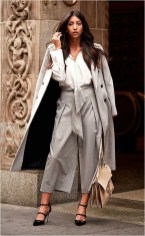 3 culottes and coat casual office outfit source stealthelook.com.br