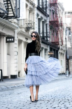 Classic timepiece & tulle skirt