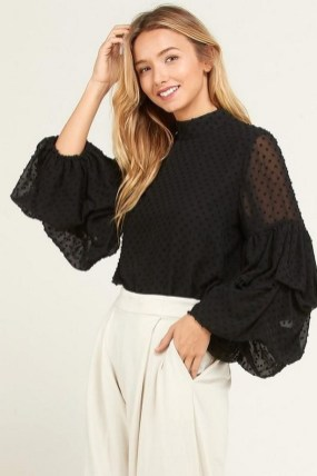 Gorgeous statement sleeve blouse