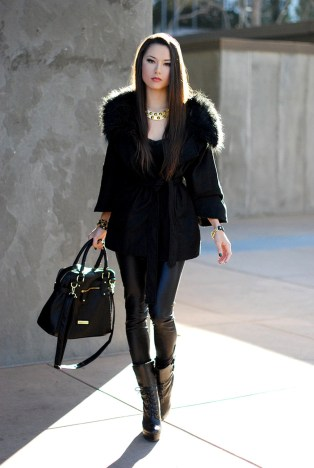 How to style all black outfits with accessories