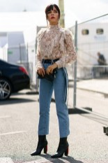 Ladylike with jeans and boat shoes