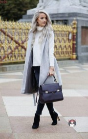Layered knitwear and dolce heels