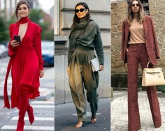 Monochromatic fashion trends fall winter 2019 2020 outfit