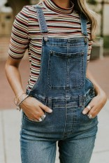 Overall with a t shirt for a casual look (4)
