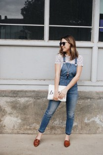 Overall with a t shirt for a casual look