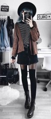 Trendy fashion winter grunge cardigans