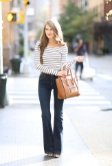 Flared jeans for the fall