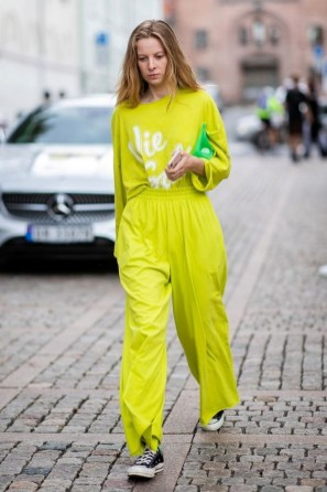 Color outfit for stylish women look neon