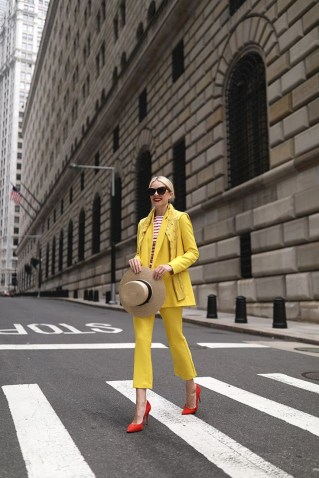 Mix n match yellow with other colors hat and shoes