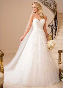 5 tulle sweetheart neckline a line wedding dress sourcemagbridalcouk