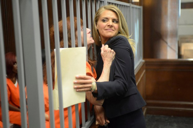 Pictured: Eliza Coupe as Nina -- (Photo By: David Moir/USA Network)