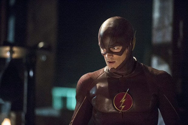 """The Flash -- """"The Flash is Born"""" -- Image FLA106a_0037b -- Pictured: Grant Gustin as The Flash -- Photo: Cate Cameron/The CW"""