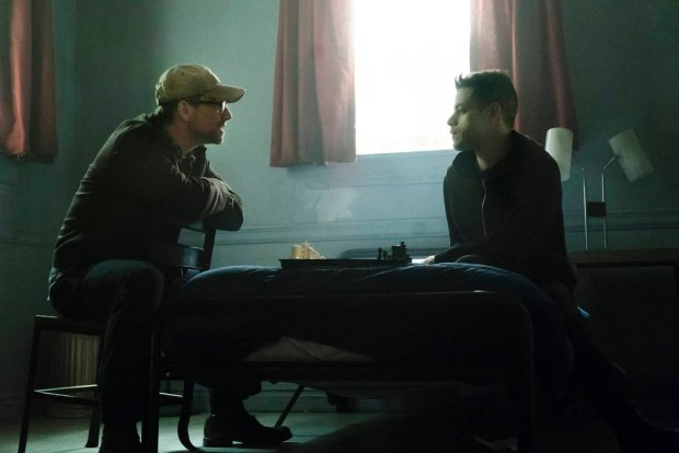 "MR. ROBOT -- ""eps2.2_init_1.asec"" Episode 204 -- Pictured: (l-r) Christian Slater as Mr. Robot, Rami Malek as Eliot Anderson -- (Photo by: Peter Kramer/USA Network)"
