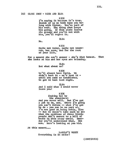 Remember the Writer Who Submitted the CASABLANCA Script As