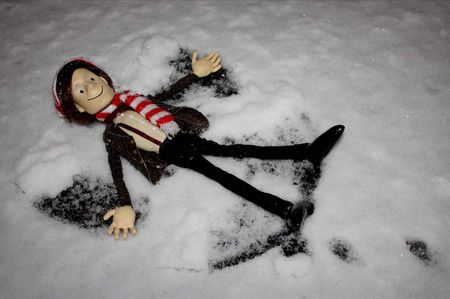Doctor Puppet snow angel