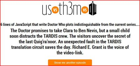 Click Pic to go to the Doctor Who Story Generator