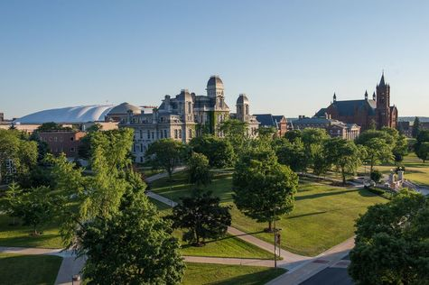 Syracuse U in the summer. The winter's something else.