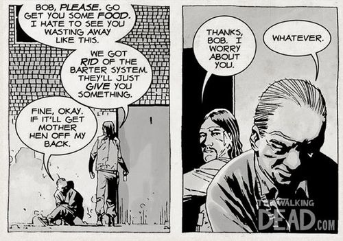 Bob in the WALKING DEAD Comic