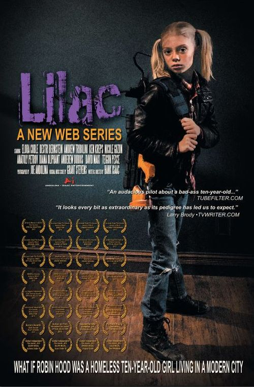 Lilac poster with LB