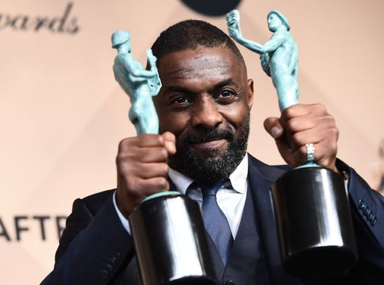 Mandatory Credit: Photo by Buckner/Variety/REX/Shutterstock (5577734ai) Idris Elba The 22nd Annual Screen Actors Guild Awards, Press Room, Los Angeles, America - 30 Jan 2016