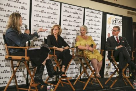 2016 Awardees panel with Paul Feig, Nancy Meyers, Marta Kauffman during the Austin Film Festival. (Photo by Jack Plunkett)