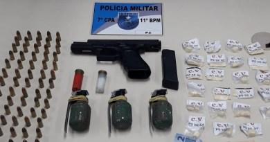 Polícia apreende drogas, armas e granadas em Conselheiro Paulino