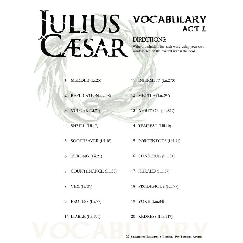 Julius caesar quotes quiz act 1