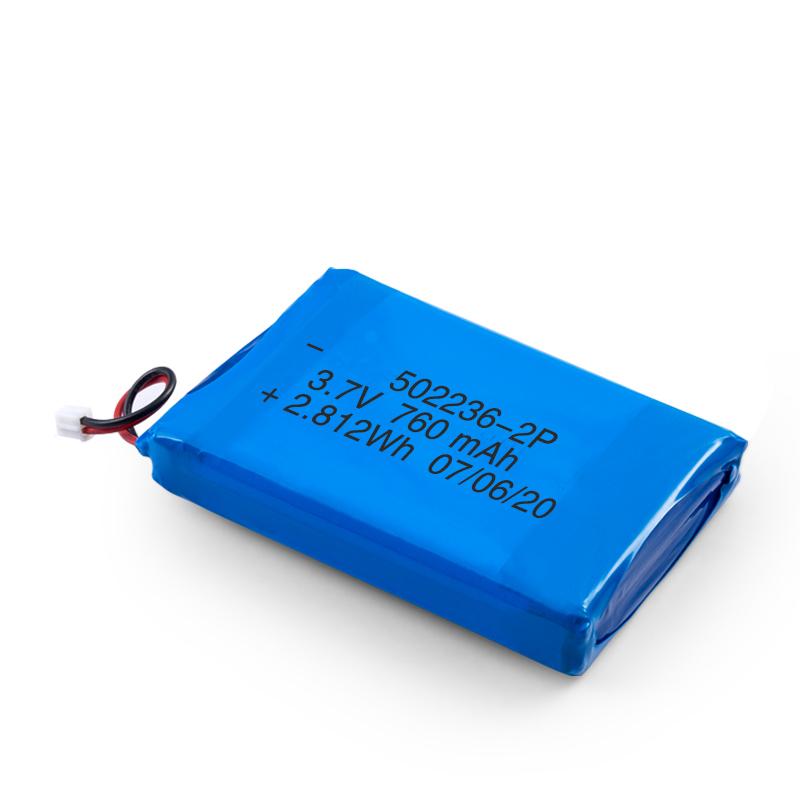 LiPO可充電電池502236 3.7V 380mAH / 3.7V 760mAH /7.4V 380mAH-Ainbattery.com