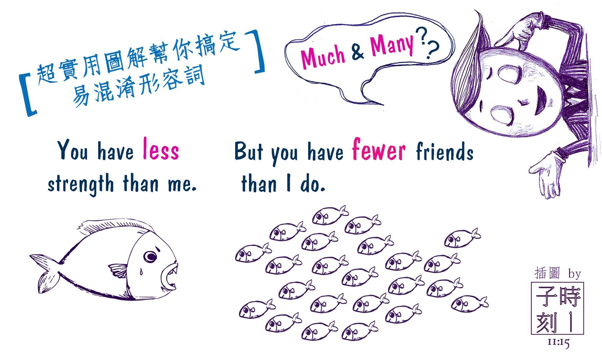 超實用圖解幫你搞定易混淆形容詞:Much/Many/Less/Fewer篇 - VoiceTube 英文學習部落格:教你學英文的好方法