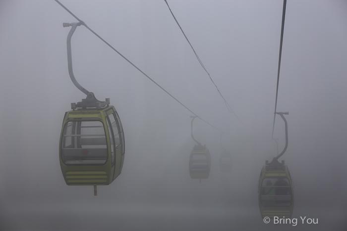 【廣西旅遊|龍脊梯田】難得搭到纜車上金坑梯田。卻是霧茫茫一片 | BringYou