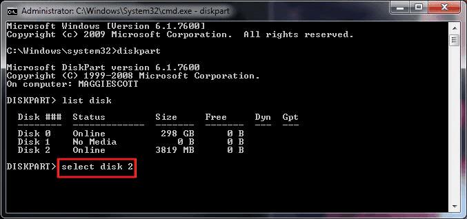 CMD命令提示字元格式化隨身碟USB - EaseUS